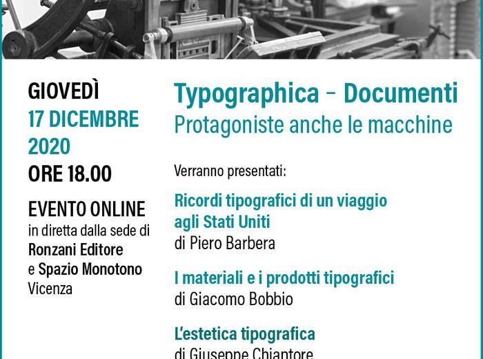 Typographica - Documenti. Protagoniste anche le macchine