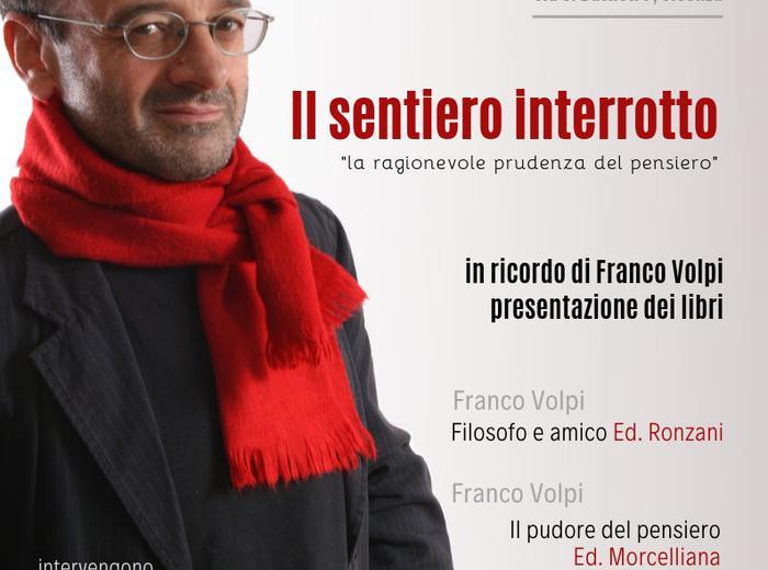 Il sentiero interrotto: alla libreria San Paolo di Vicenza si ricorda il filosofo Franco Volpi