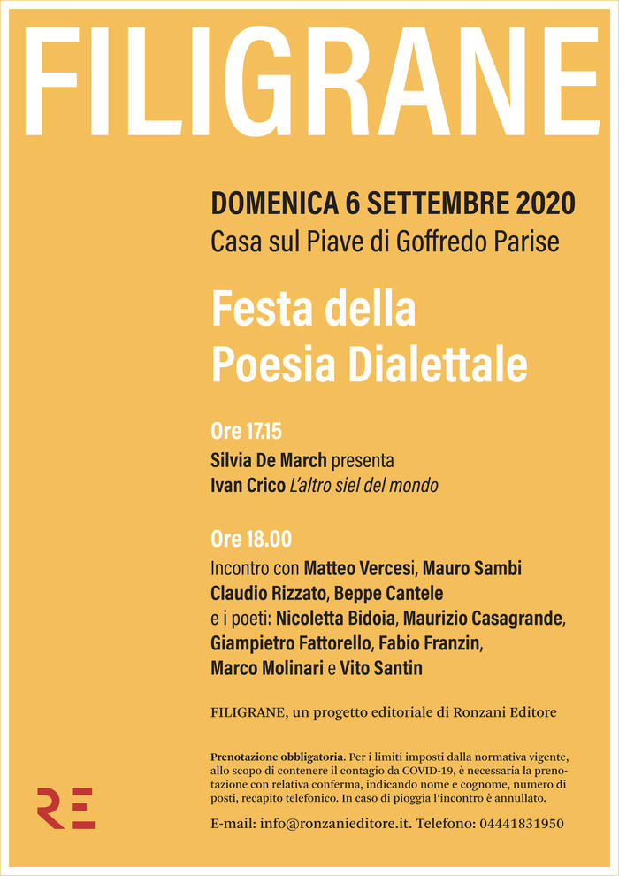 Filigrane - Festa della Poesia Dialettale