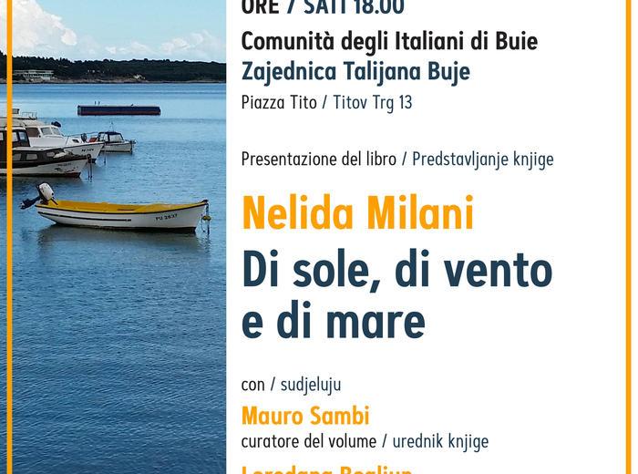 BUIE: presentazione del libro di NELIDA MILANI, Di sole, di vento e di mare