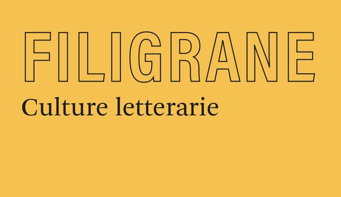 """""""Filigrane. Culture letterarie"""", una nuova rivista"""
