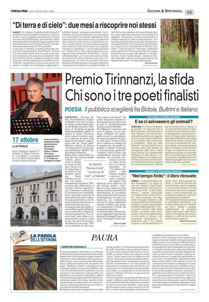 Premio Tirinnanzi, la sfida - Chi sono i tre poeti finalisti