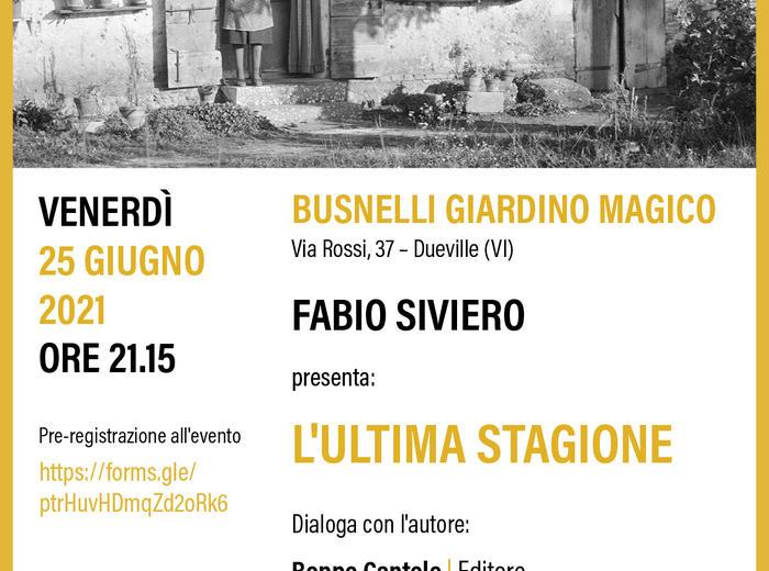 L'ultima stagione di Fabio Siviero - Ronzani Editore al BGM21