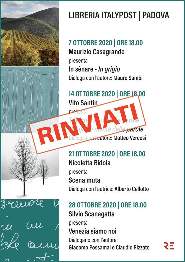 Alla Libreria ItalyPost di Padova 4 importanti appuntamenti