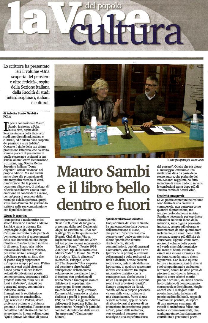 Mauro Sambi e il libro bello dentro e fuori