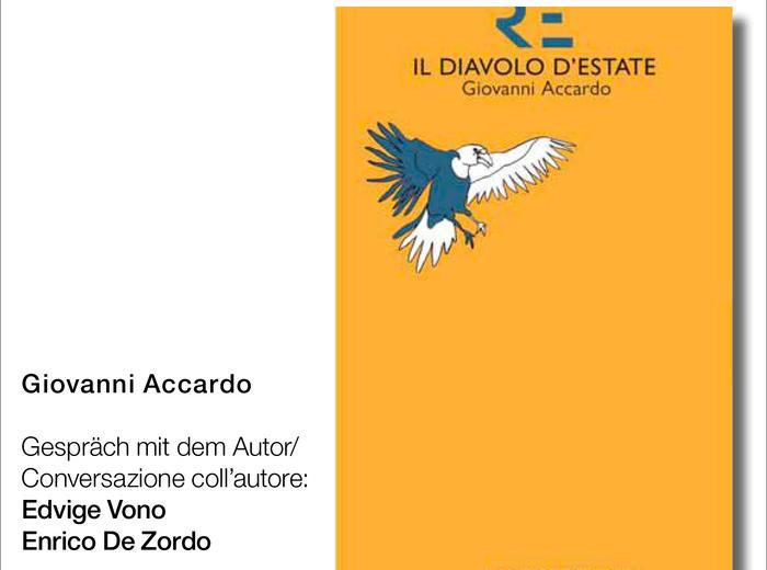 """Alla Biblioteca Civica di Bressanone (Bz) Giovanni Accardo presenta """"Il diavolo d'estate"""""""