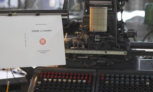 Le Poesie a Casarsa sulla tastiera Monotype