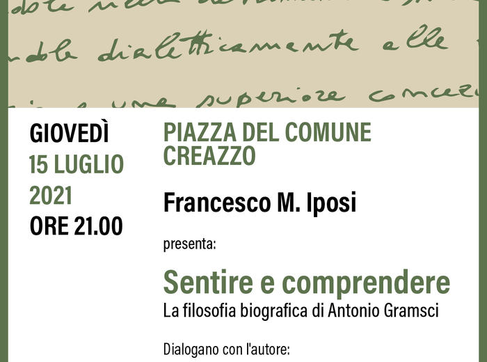 """Francesco Iposi presenta """"Sentire e comprendere"""" in piazza a Creazzo"""