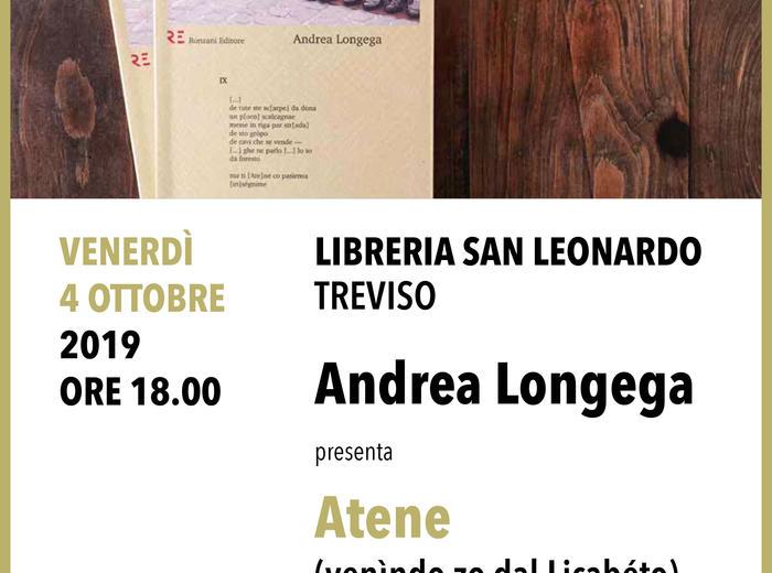 Alla libreria San Leonardo di Treviso Andrea Longega presenta Atene (venìndo zo dal Licabéto)