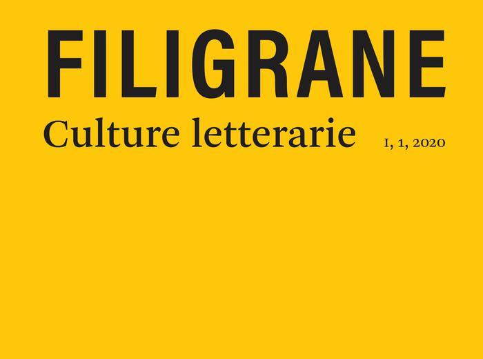 """Il giovedì dell'editore - Rivista """"Filigrane. Culture letterarie"""""""