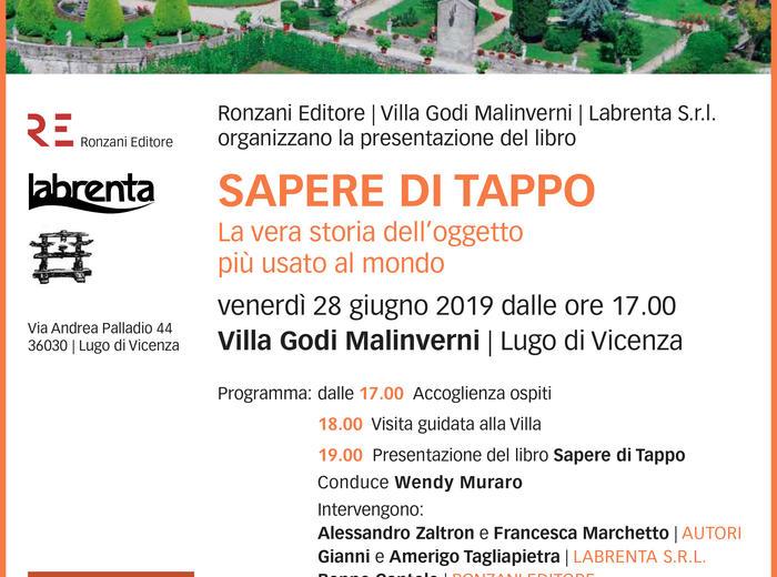"""A Villa Godi Malinverni la presentazione del libro """"Sapere di tappo. La vera storia dell'oggetto più usato al mondo"""""""