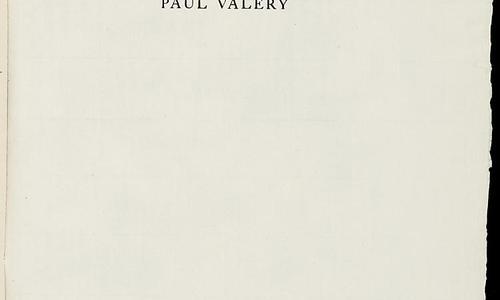 Paul Valery, Agathe (frontespizio), Parigi, Alberto Tallone, 1956.