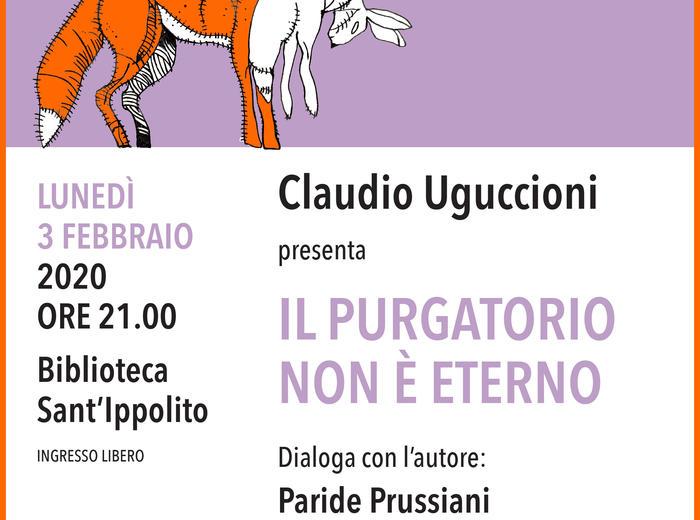 """Alla Biblioteca Comunale di Sant'Ippolito (PU), Claudio Uguccioni presenta il romanzo """"Il purgatorio non è eterno""""."""