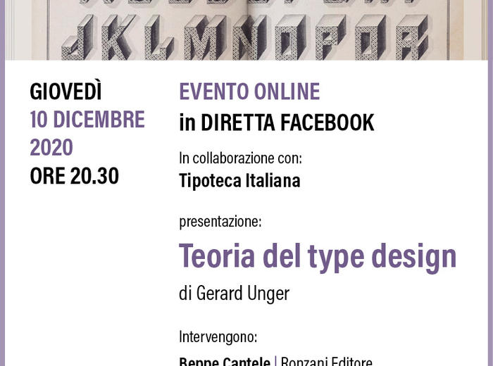 """In diretta dalla Tipoteca """"Teoria del type design"""", Gerard Unger"""
