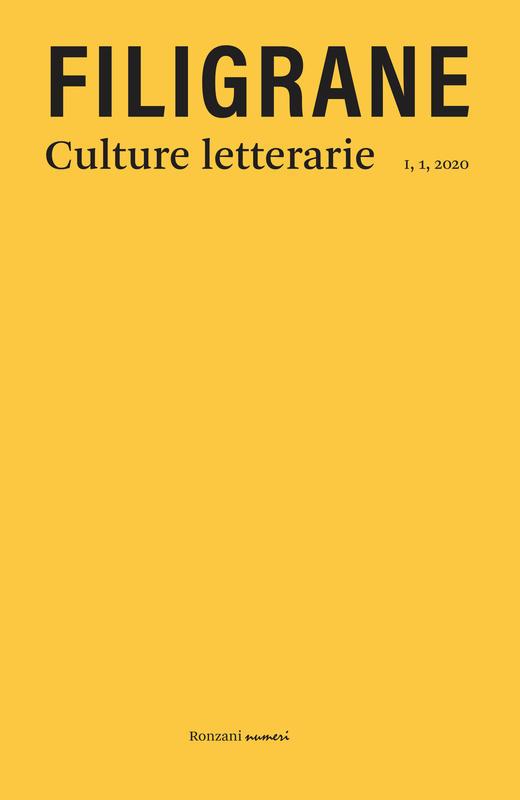 FILIGRANE - culture letterarie. Dialetti in poesia,  I, 1, 2020
