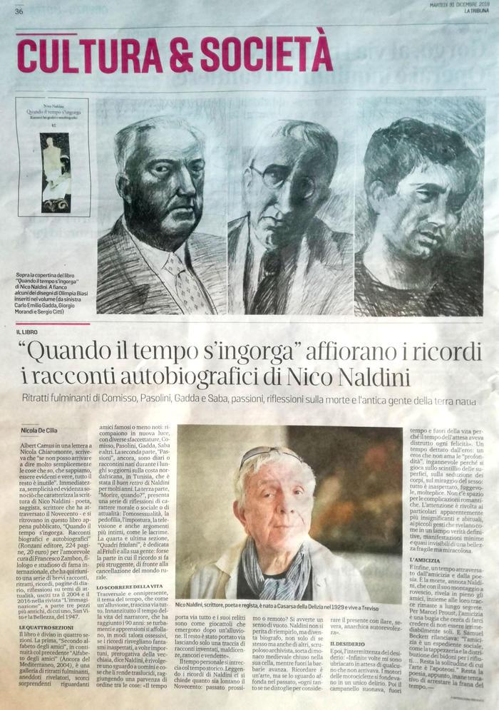 """""""Quando il tempo s'ingorga"""" affiorano i ricordi, i racconti autobiografici di Nico Naldini"""