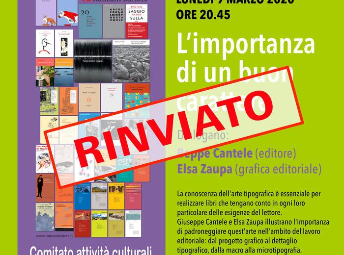 L'importanza di un buon carattere: appuntamento tipografico in Biblioteca Comunale di Sandrigo