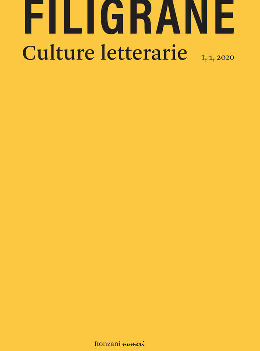 FILIGRANE - culture letterarie. Dialetti in poesia,  I, 1, 2020