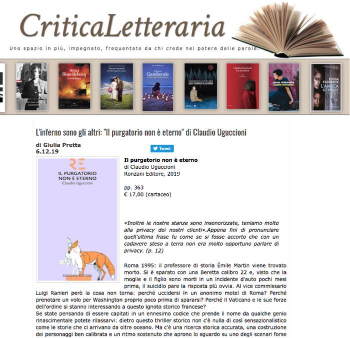 """L'inferno sono gli altri: """"Il purgatorio non è eterno"""" di Claudio Uguccioni"""