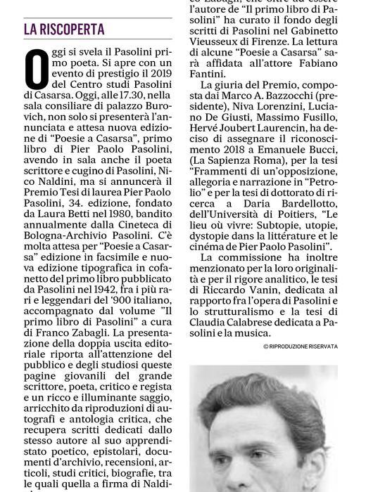 A Casarsa le prime poesie di Pasolini
